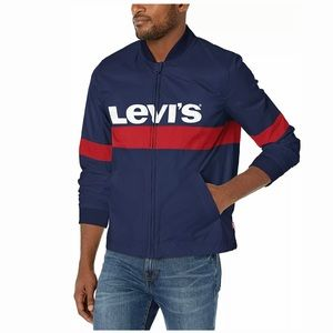 Levi's Men's Colorblocked Logo Varsity Jacket L
